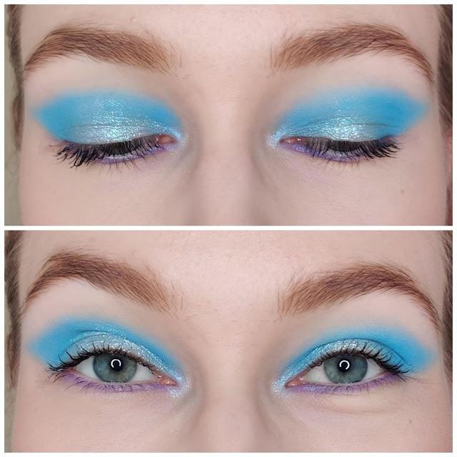 Fabriquez chez vous un ombre à paupières libre bleu ciel 100% naturelle