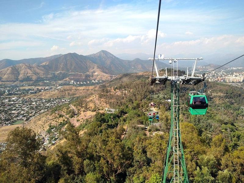 Cerro San Cristbal e Parque Metropolitano em Santiago do