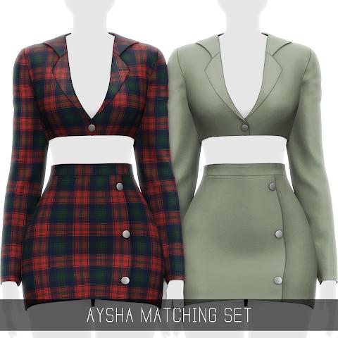 AYSHA MATCHING SET