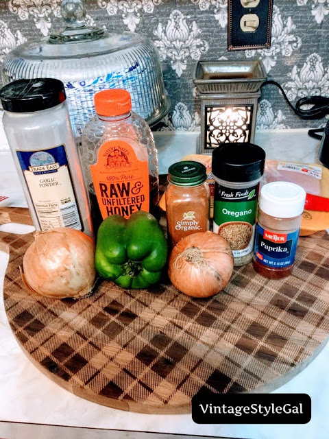 Ingredients to make sweet and spicy chicken
