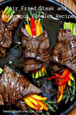 Air Fried Steak and Asparagùs Bùndles