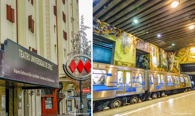 Estação de metrô Baquedano, Santiago do Chile