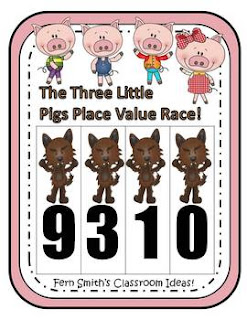 Three Little Pigs Place Value Math Center Games