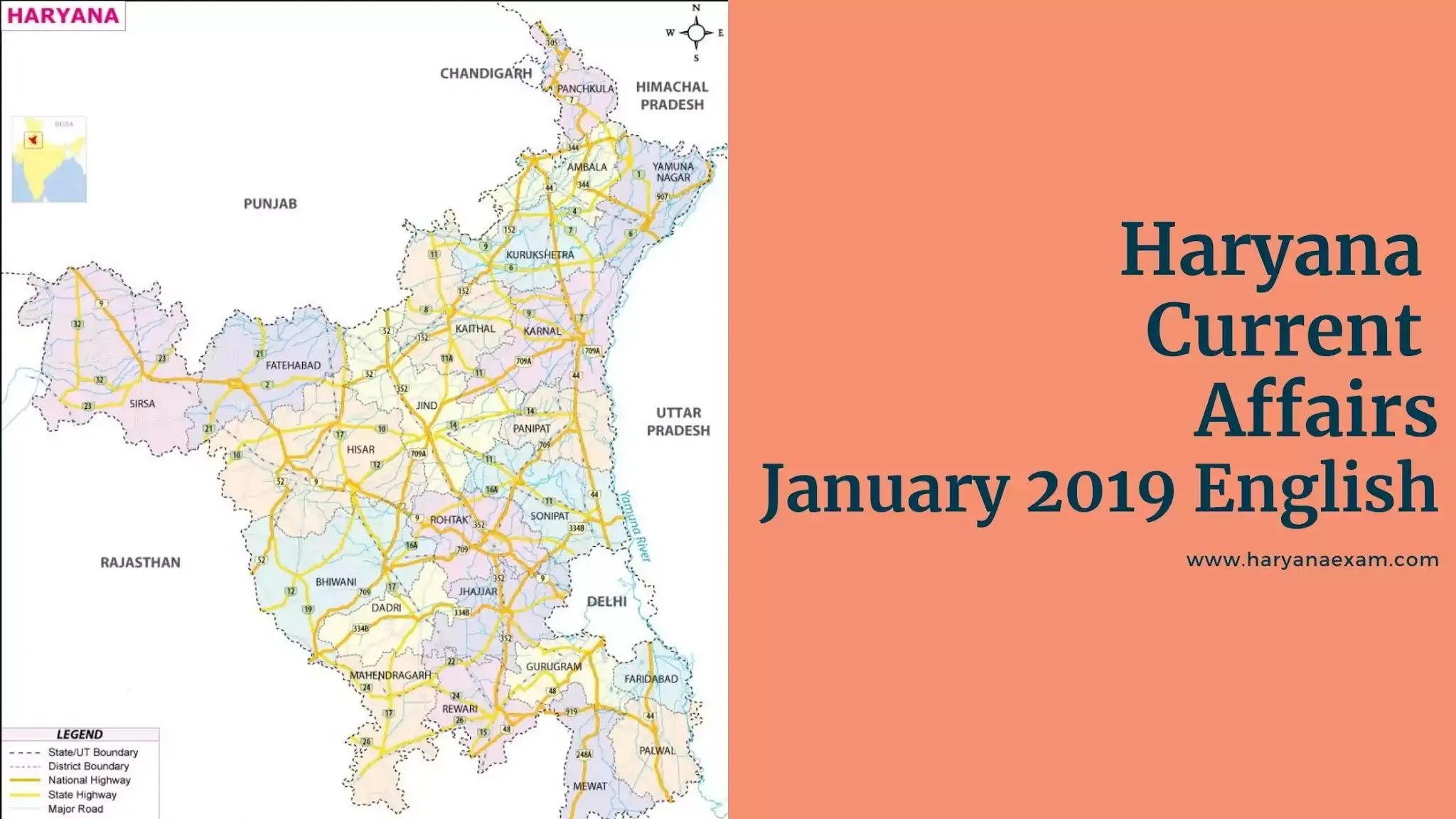 Haryana Current Affairs January 2019 in English