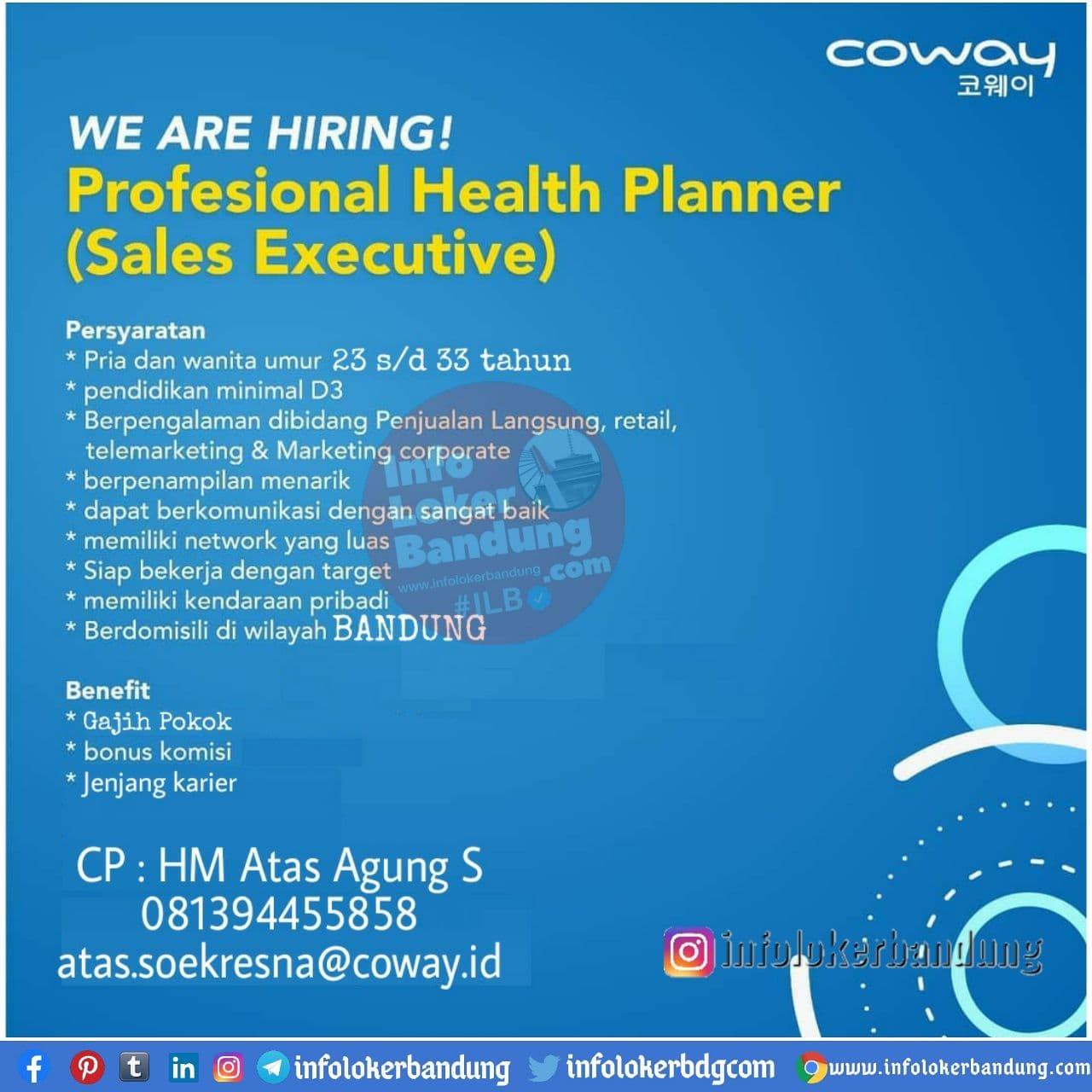 Lowongan Kerja PT Coway International Indonesia Bandung Branch Desember 2020