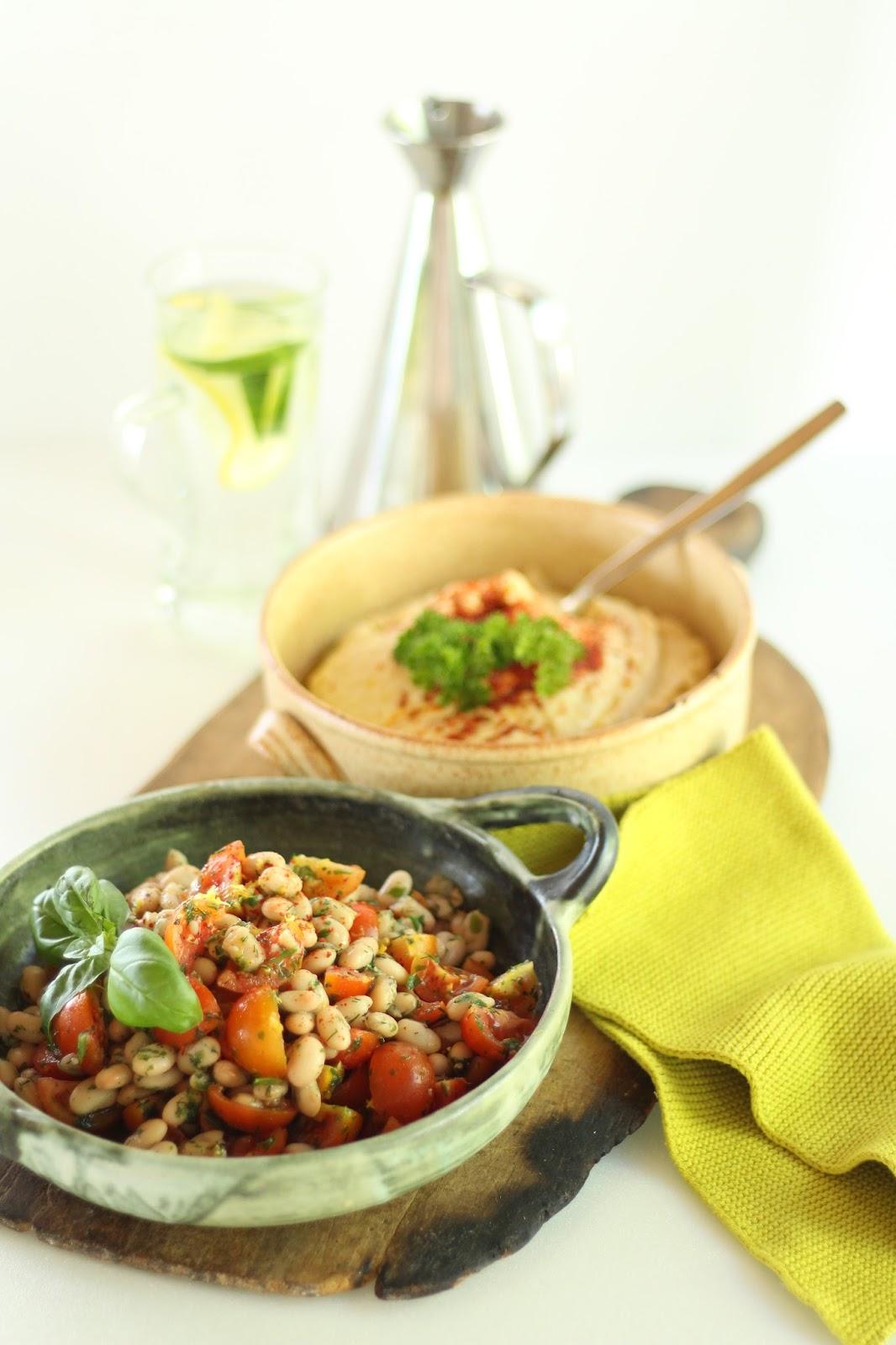 Weiße Bohnen mit Hummus