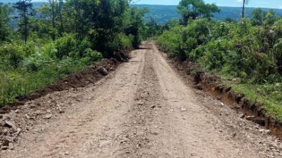 Realisasikan Program 100 Hari, Dinas PUPR Samosir Perbaiki Jalan Pedesaan