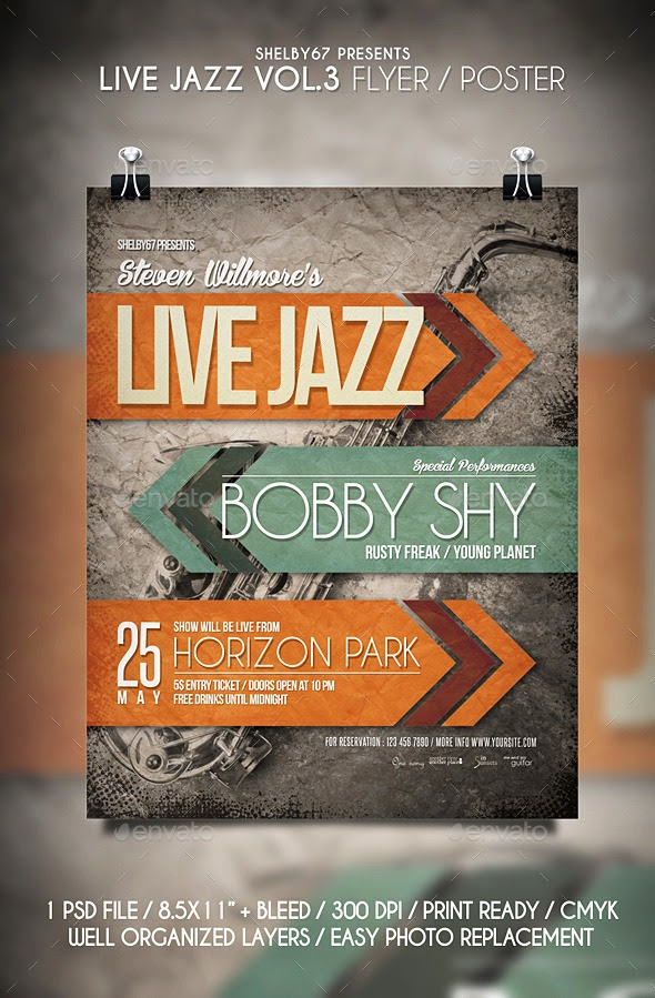Live Jazz Flyer Template