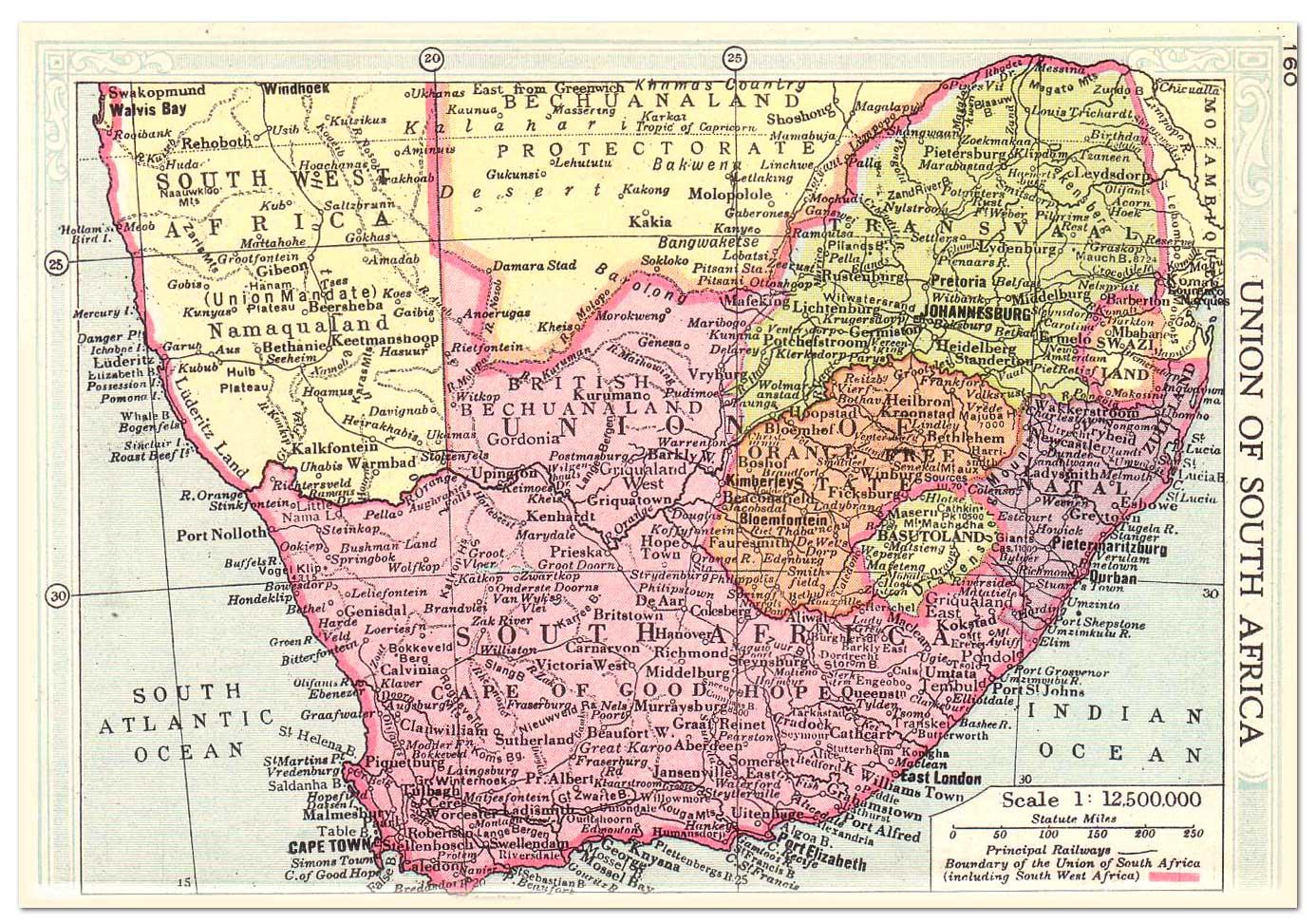 África do Sul | Mapas Geográficos da África do Sul