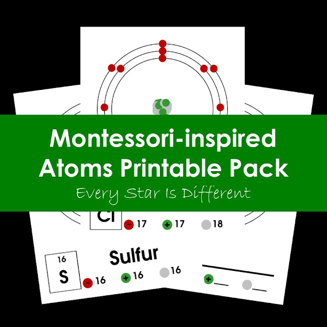 Montessori-inspired Atoms Printable Pack