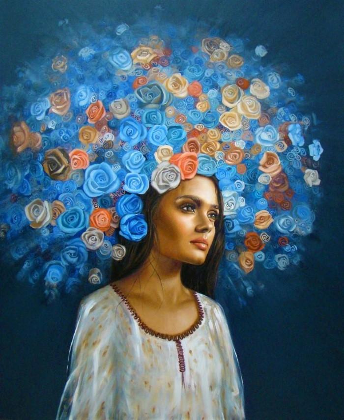 Испанский художник. Azul Iturri