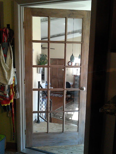 The two new doors are the recent changes to my art room.