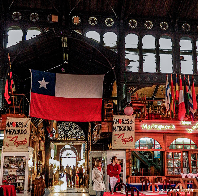 Restaurante Donde Augusto, Mercado Central de Santiago