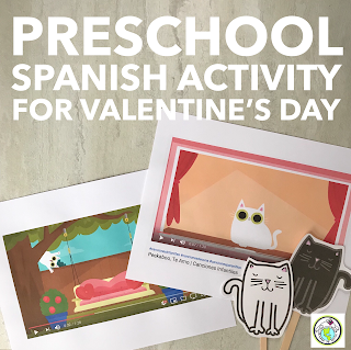 Preschool Spanish Activity For Valentine's Day
