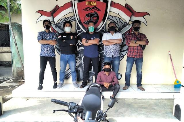 Curi motor teman sendiri, aksi mahasiswa ini terekam CCTV kampus