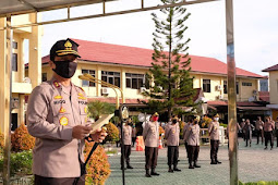 Nico Afinta Pimpin Apel Perdana Polda Kalimantan Selatan Pasca libur Idul Fitri