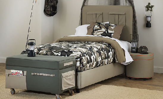 Perfect For Your Little Solider It Features A Fun Camouflage Theme Plus Storage Shelf And Beige Green Patterned Desk Top Child S Room