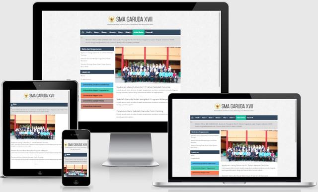 Indonesian School Website Responsive Blogger Templates