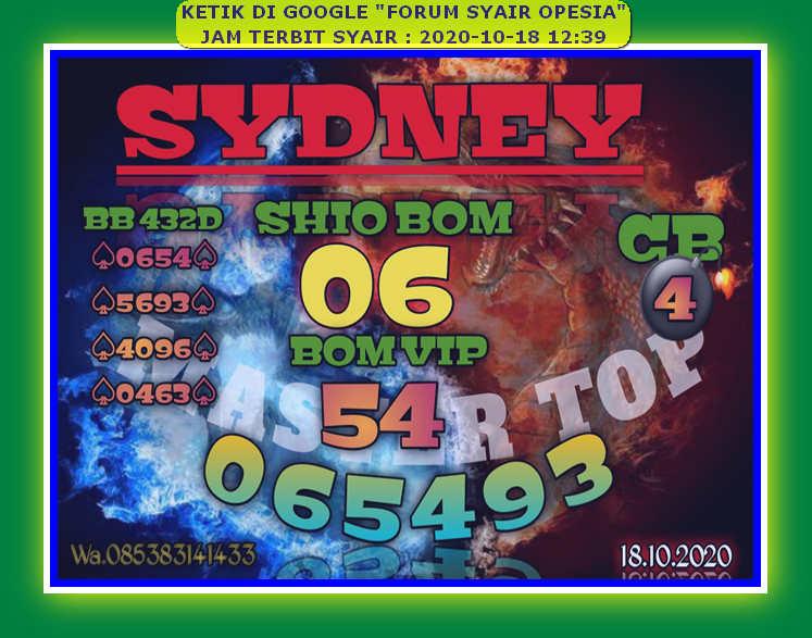 Kode syair Sydney Minggu 18 Oktober 2020 47