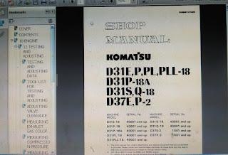 Komatsu D31E-18 D31P-18 D31P-18A
