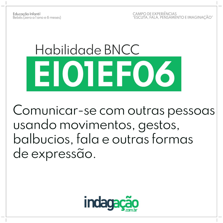 Habilidade EI01EF06 BNCC