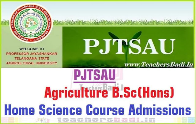 PJTSAU,Agriculture B.Sc(Hons) Home Science Course,Admissions 2016
