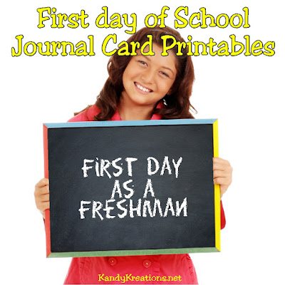 Decorate your back to school memories with these first day of school printables. Cards are available from Preschool to College in both horizontal and vertical designs to fit all your Scrapbooking layouts or first day of school pictures.