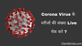 Corona virus se bimar logo ki snkhya live check kare