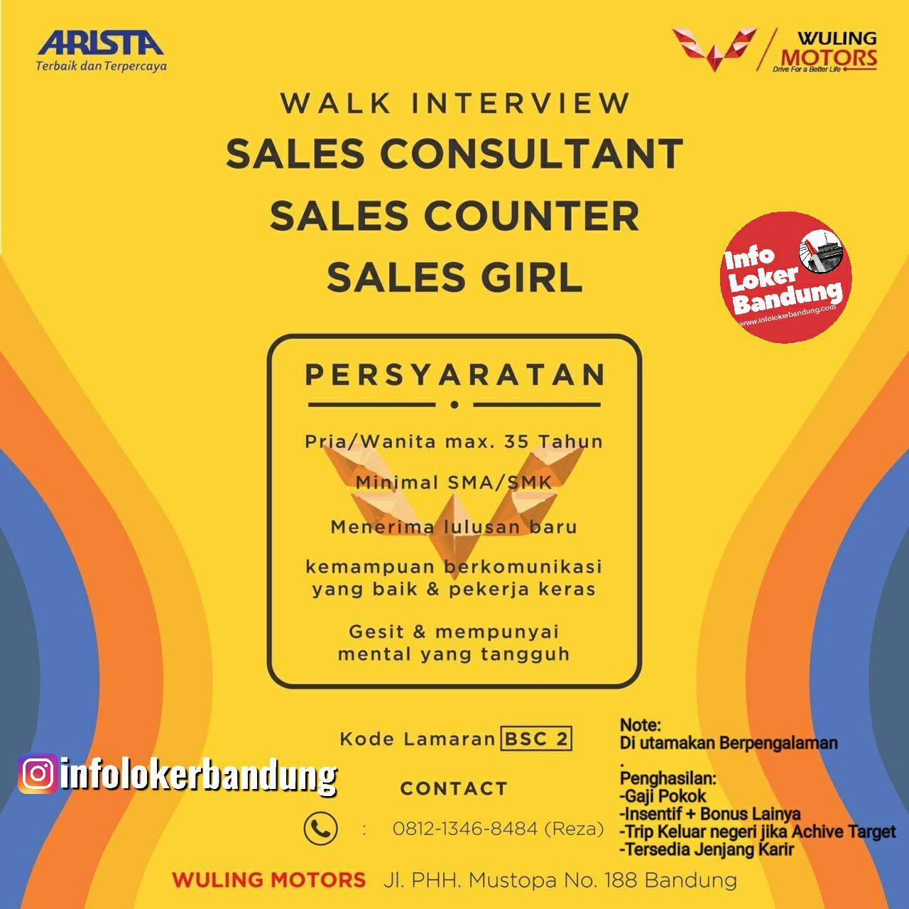 Walk In Interview Wuling Motors Bandung Oktober 2019
