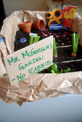 Peter Rabbit Sensory Tub Activity