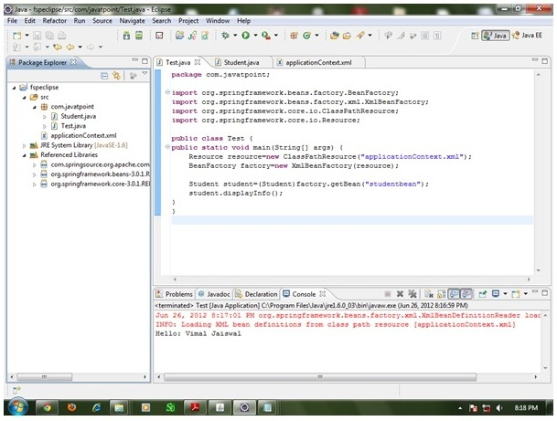 how to creating spring application in Eclipse IDE - W3Schools