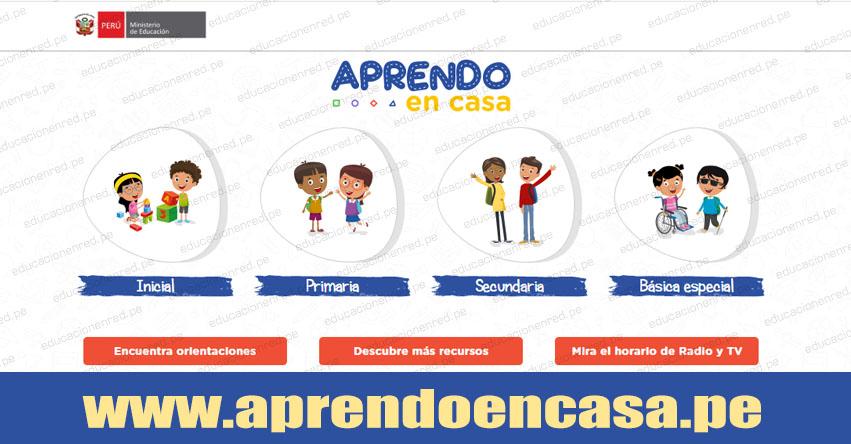 APRENDOENCASA.PE - Hoy comienza educación a distancia para escolares a nivel nacional Vía TV Perú, 335 radios de todo el país y página web [HORARIOS]