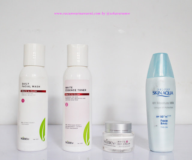 Rangkaian Skincare Pagi Memakai Skine87