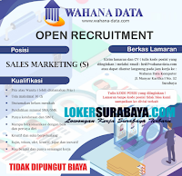 Open Recruitment at Wahana Data Komputer Surabaya Oktober 2020