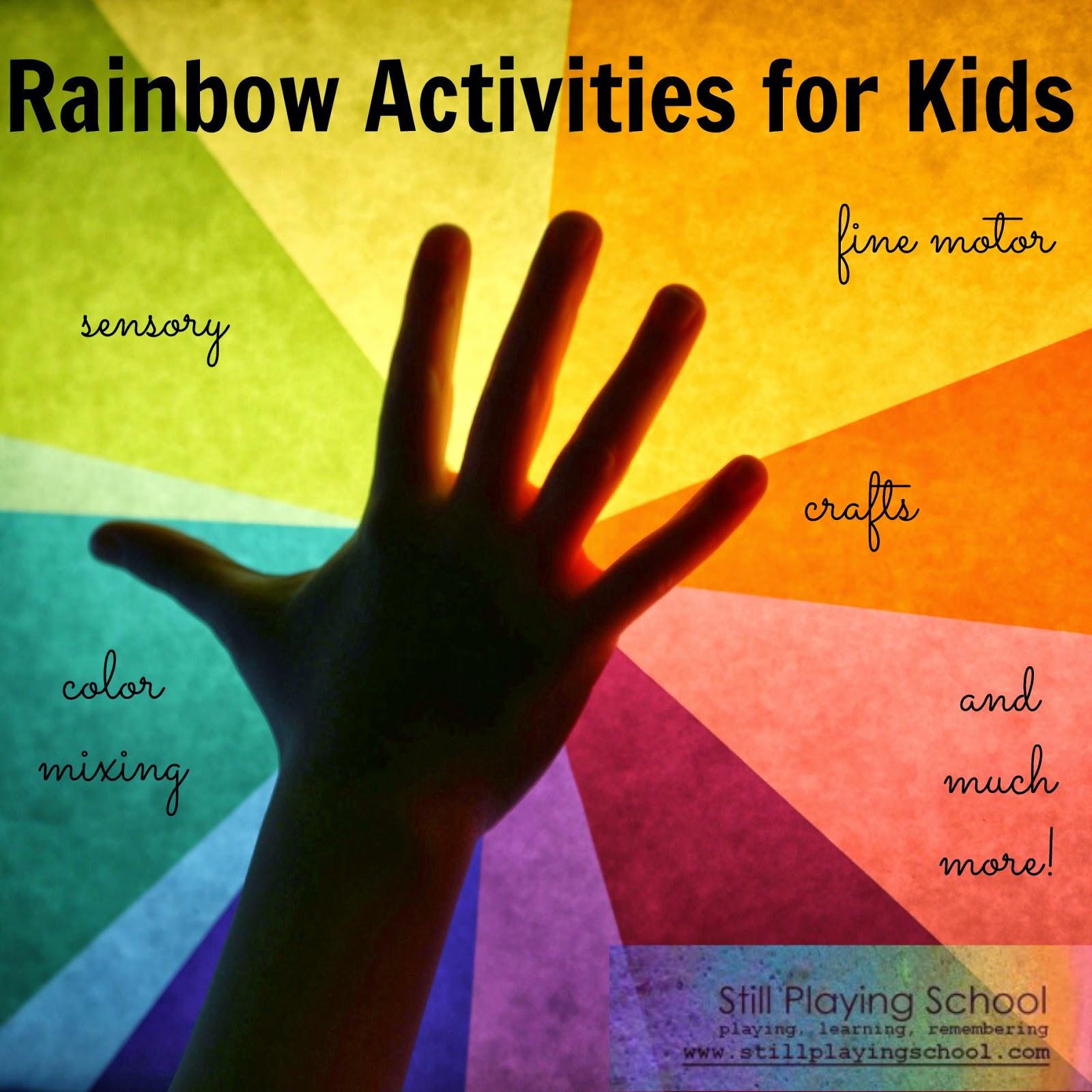 6 Rainbow Crafts Amp Activities For Kids