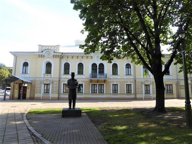 giardino del palazzo storico del presidente a kaunas
