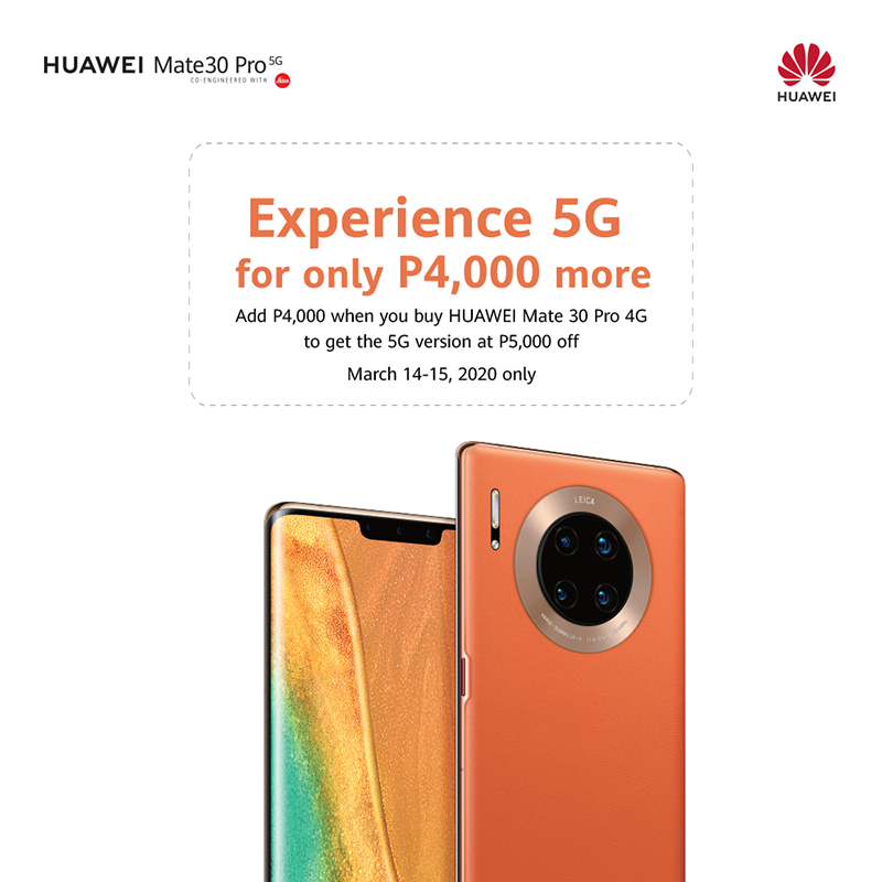 Huawei Mate 30 Pro 5G available for only PHP 50,990