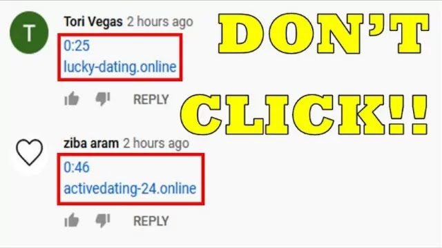 YouTube spam comments