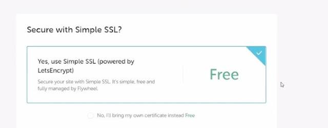 get free ssl certificate on flywheel