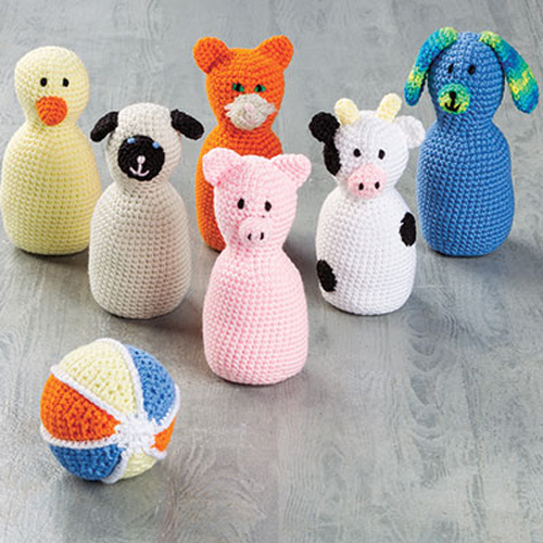 Barnyard Bowling Crochet Set - Electronic Download