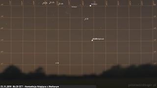 25.11.2019 - koniunkcja Księżyca z Merkurym