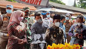 Jelang Bulan Ramadhan 1442 H, Bupati bersama Forkopimda Lampura Datangi Pasar Sentral Kotabumi