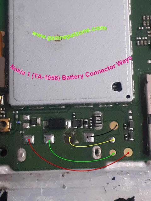 Nokia 1 (TA-1056) Battery Connector Ways..