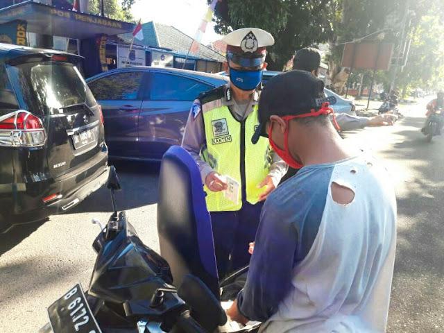 Operasi Patuh Gatarin Polresta Mataram, pelanggar Lalin menurun drastis