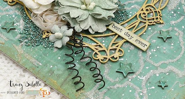 """Best Day Ever"" Shabby Mixed Media Card by Tracey Sabella for Studio75: #studio75 #anemone #scrapiniec #49andmarket #finnabar #primamarketing #rangerink #prills #panpastel #artanthology #memorybox #helmar #thermoweb #mixedmedia #shabbychic #card #cards #mixedmediacard #mixedmediacards #handmadeflowers #chipboard #spring #springisinthepair"