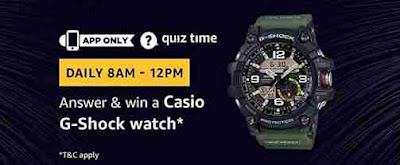 Image result for Answer and win a Casio G-Shock Watch