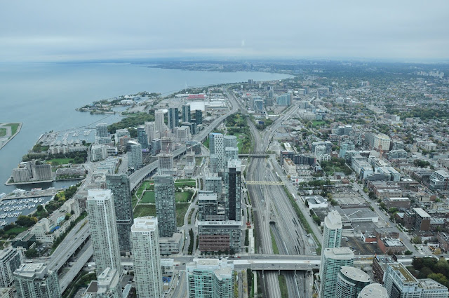 As seen from the CN Tower, Ontario, Canada