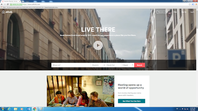 Airbnb.com Home Page