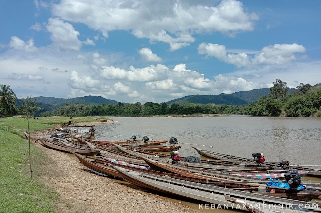 Foto Pelabuhan Sampan di Desa Gema Kampar Kiri Hulu