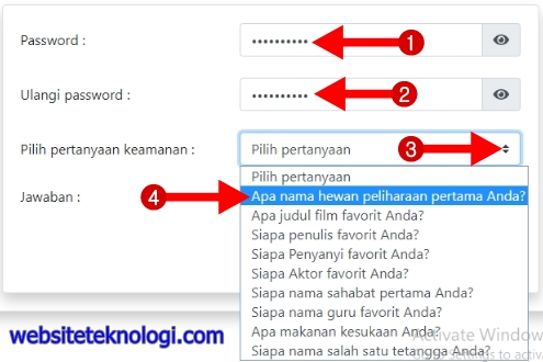 Buatlah password sensus penduduk online 2020 !